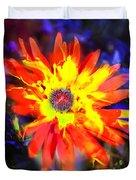 Lily In Vivd Colors Duvet Cover by Gunter Nezhoda