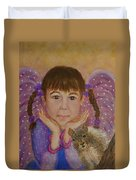 Lily Isabella Little Angel Of The Balance Between Giving And Receiving Duvet Cover