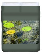 Lily Leafs On The Water Duvet Cover