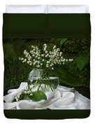 Lily-of-the-valley Bouquet Duvet Cover by Luv Photography