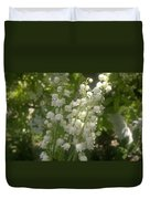 White Lily Of The Valley Bouquet Duvet Cover