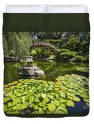 Lily Pad Garden - Japanese Garden At The Huntington Library. Duvet Cover