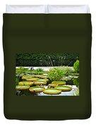 Lily Pad Garden Duvet Cover