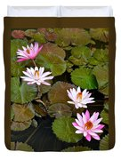 Lily Pad Haven Duvet Cover