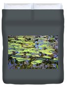 Lily Pads In The Swamp Duvet Cover