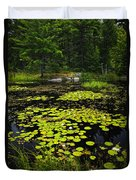 Lily Pads On Lake Duvet Cover