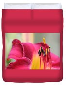 Lily Photo - Flower - Rusty Red Duvet Cover