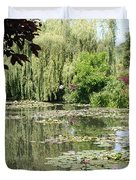 Lily Pond - Monets Garden - France Duvet Cover