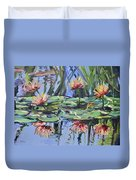 Lily Pond Reflections Duvet Cover