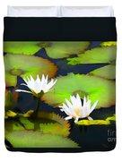 Lily Pond Bristol Rhode Island Duvet Cover