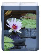 Lily Purple And White Duvet Cover