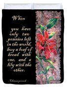 Lily Quote Duvet Cover