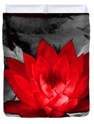 Lily Red And Koi Duvet Cover