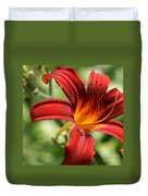 Lily Red  Duvet Cover