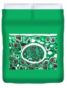 Lily Seed Embryo, Lm Duvet Cover