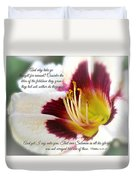 Lily With Scripture Duvet Cover