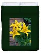 Lily Yellow Flower Duvet Cover
