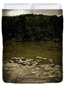 Lilypads At The Dock Duvet Cover