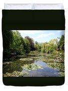 Lilypond Monets Garden Duvet Cover