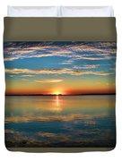 Lima Ohio Sunset Duvet Cover