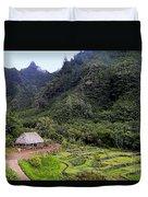 Limahuli Taro Fields In Kauai Duvet Cover