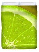 Lime Duvet Cover by Anastasiya Malakhova