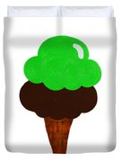 Lime And Chocolate Ice Cream Duvet Cover