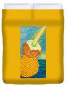 Lime Coconut Pineapple Guitar Duvet Cover