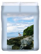 Lime Kiln Point Lighthouse Duvet Cover