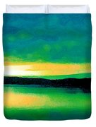 Lime Sunset Duvet Cover