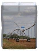 Limestone County Crop Irrigation Duvet Cover