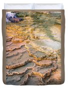 Limestone Terraces Yellowstone National Park Duvet Cover