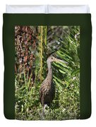 Limpkin With An Apple Snail Duvet Cover