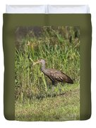 Limpkin With Apple Snail Duvet Cover