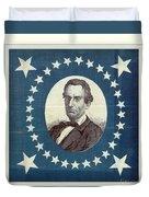 Lincoln 1860 Presidential Campaign Banner - Bust Portrait Duvet Cover