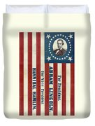 Lincoln 1860 Presidential Campaign Banner Duvet Cover