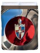 Lincoln Capri Wheel Emblem Duvet Cover by Jill Reger