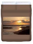 Lincoln City Sunset Duvet Cover by John Daly