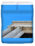Lincoln County Courthouse Columns Looking Up 01 Duvet Cover