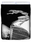Lincoln Hood Ornament - Grille Emblem -1187bw Duvet Cover