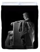 Lincoln In Black And White Duvet Cover