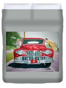 Lincoln In Red Duvet Cover