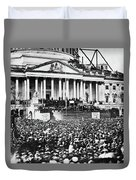 Lincoln Inauguration, 1861 Duvet Cover