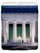 Lincoln Memorial At Dusk, Washington Duvet Cover