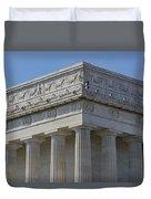 Lincoln Memorial Columns  Duvet Cover by Susan Candelario