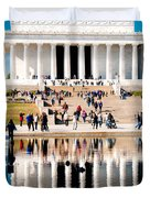 Lincoln Memorial Duvet Cover by Greg Fortier