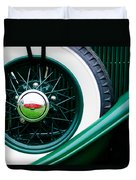 Lincoln Spare Tire Emblem Duvet Cover