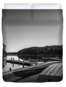 Lincoln Trail State Park Bw Duvet Cover