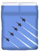 Line Abreast Pass Duvet Cover