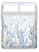 Line Forest Duvet Cover